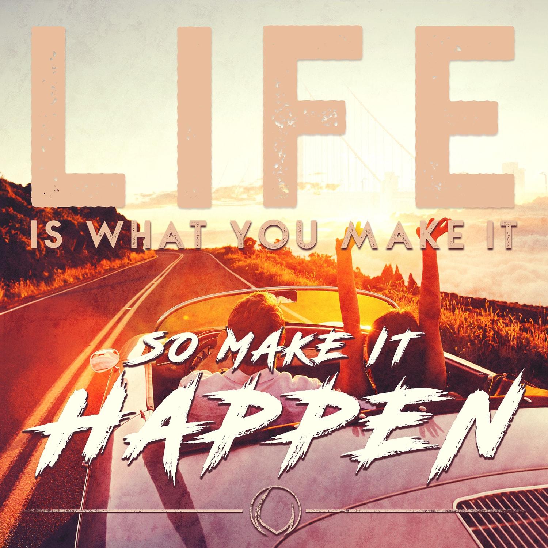 Life happens Advrsty Social Media Post Design
